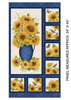 Accent on Sunflowers - - Sunflower Panel - 10211-15  - Benartex