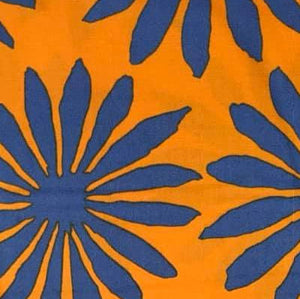 Blue Gerbera on Orange