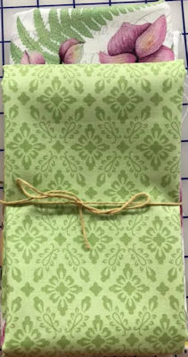 Orchids in Bloom Canvas Bag w/ Green Lining Kit
