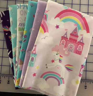 Unicorn Magic Half Yard Bundle of 6