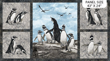 Magdalena - Penguin Panel - 23760-94  - Northcott