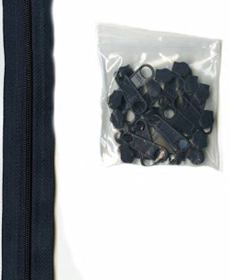 Zippers by the Yard - Navy