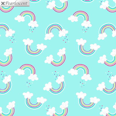 Unicorn Magic - Magical Rainbow Aqua - 9797P-04  - Benartex
