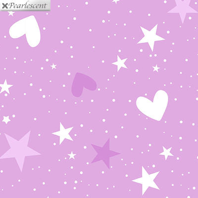 Unicorn Magic - Magical Stars Hearts Lilac - 9802P-06