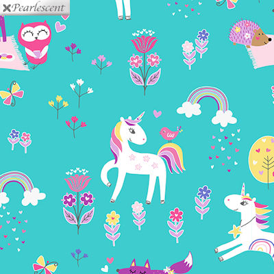 Unicorn Magic - Magical Forest Aqua - 9803P-04