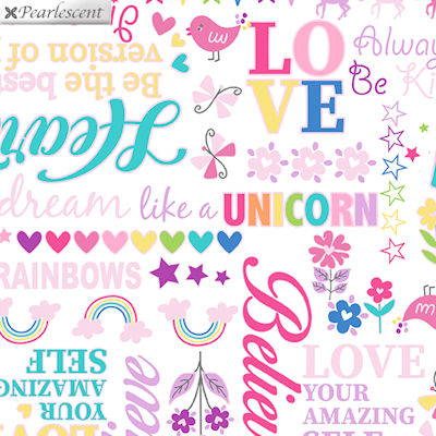 Unicorn Magic - Magical Words White - 9804P-09