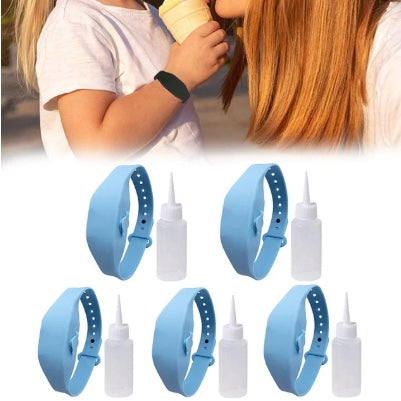 3-5PCS Adult Kids Liquid Wristband Hand Dispenser