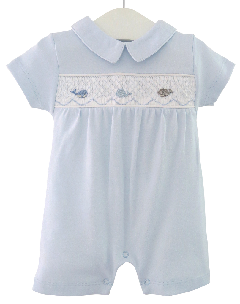 Light Blue Smocked Shortie