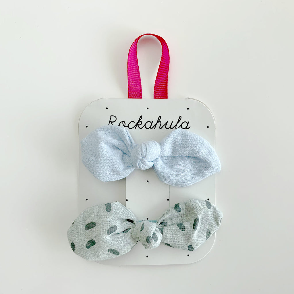 Sprinkles Bow Clips - Blue