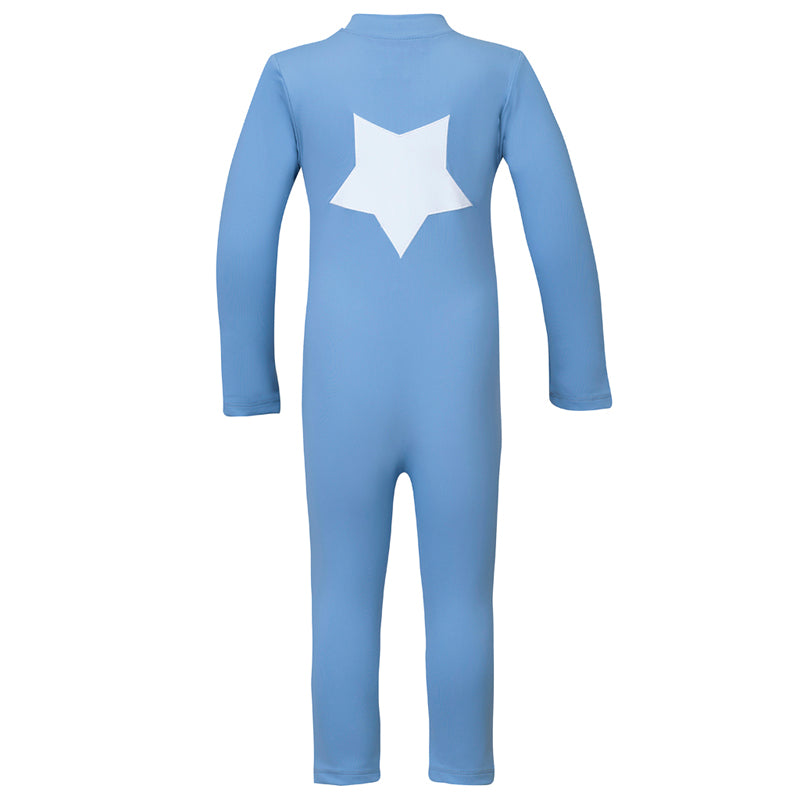 Lou Star Longsleeve Sunsuit - Dusty Blue