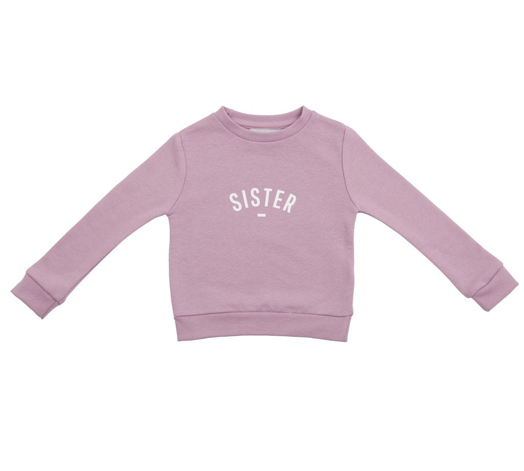 Dusty Violet 'Sister' Sweatshirt
