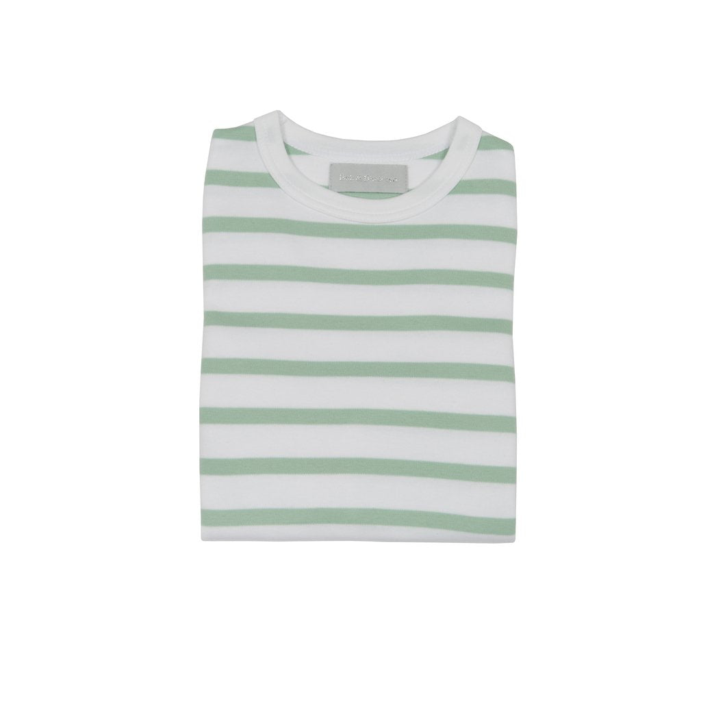 Seafoam & White Breton Striped Longsleeve T-Shirt