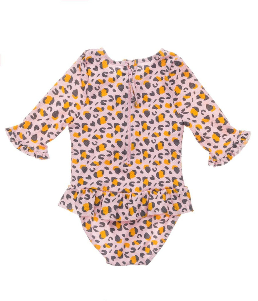 Leopard Love Baby LS Surf Suit
