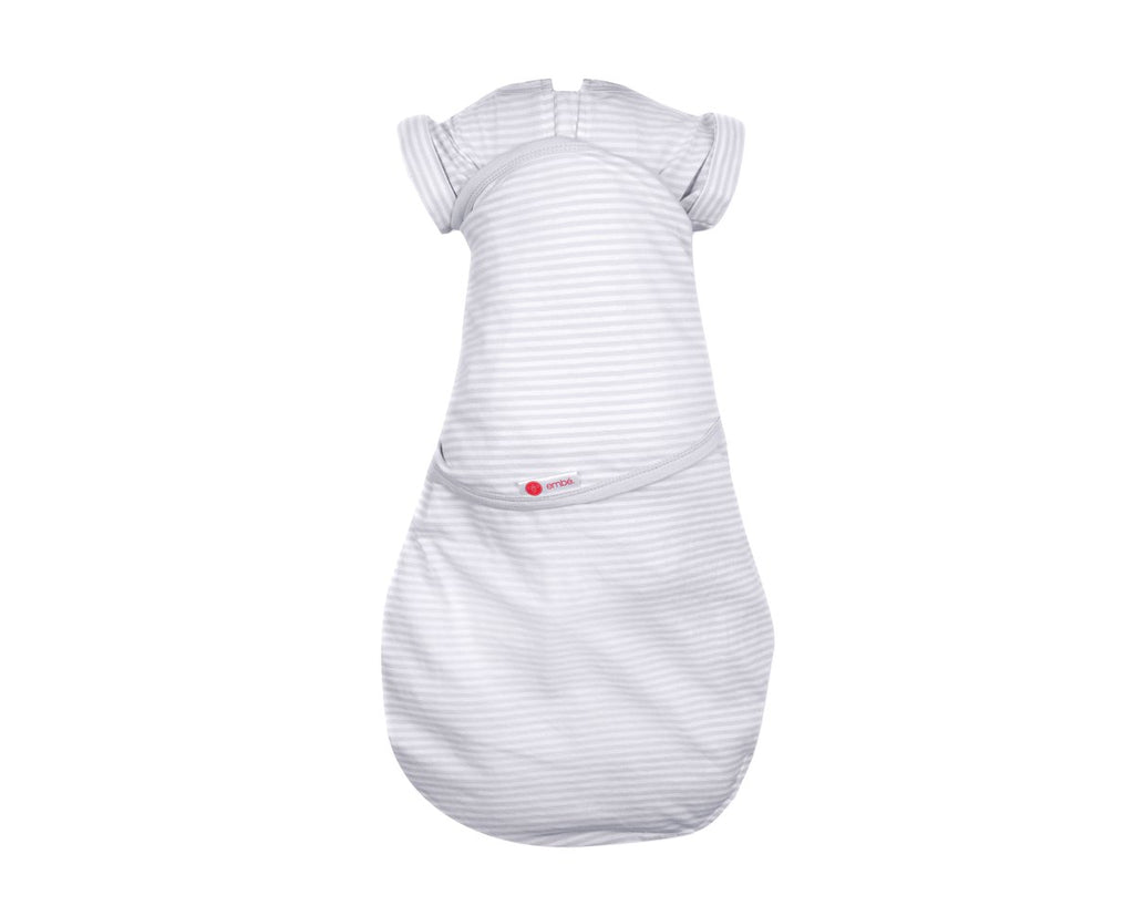 Transitional Swaddle Out - Gray Stripe