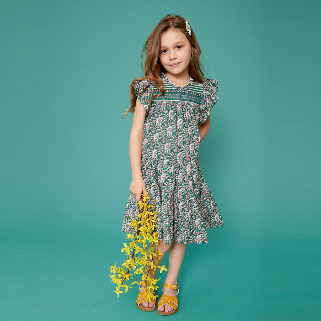 Evergreen Vine Floral Kalani Dress