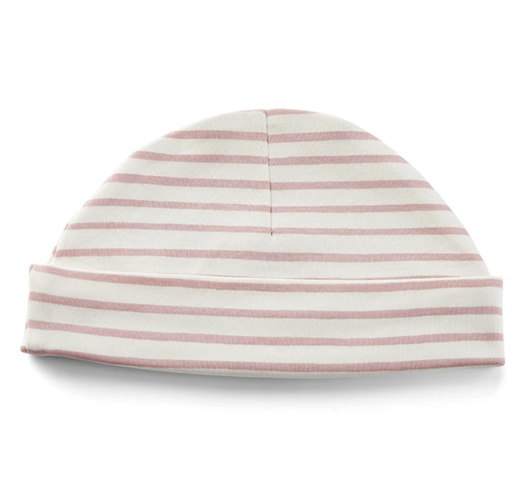 Beanie Hat - Stripes Away Dark Pink