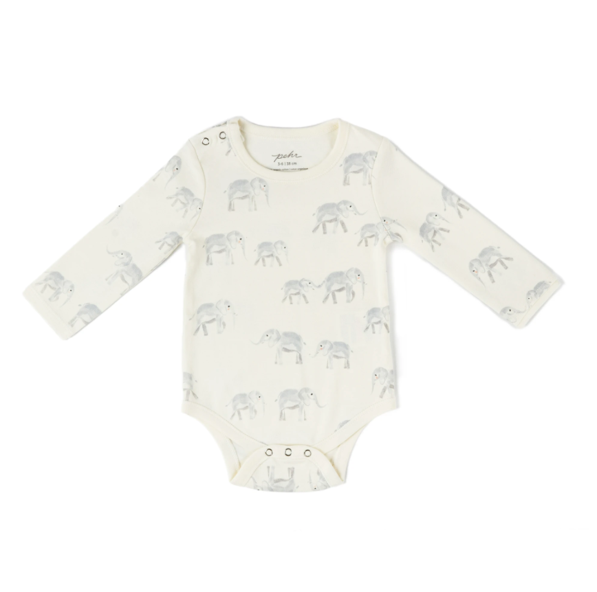 Shoulder Snap One-Piece - Elephant