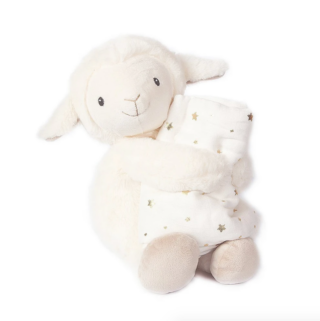 Lamb Plush Toy and Muslin Blanket Gift Set - 'Loyal'