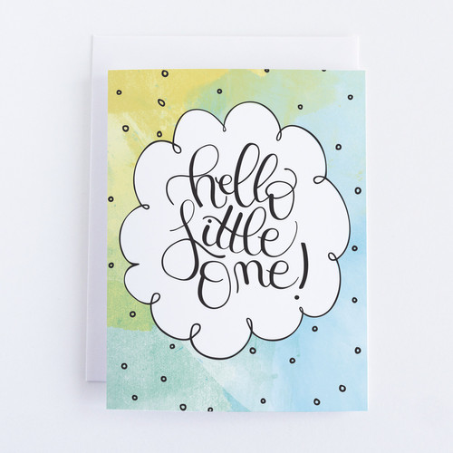 Hello Little One Baby Shower Card
