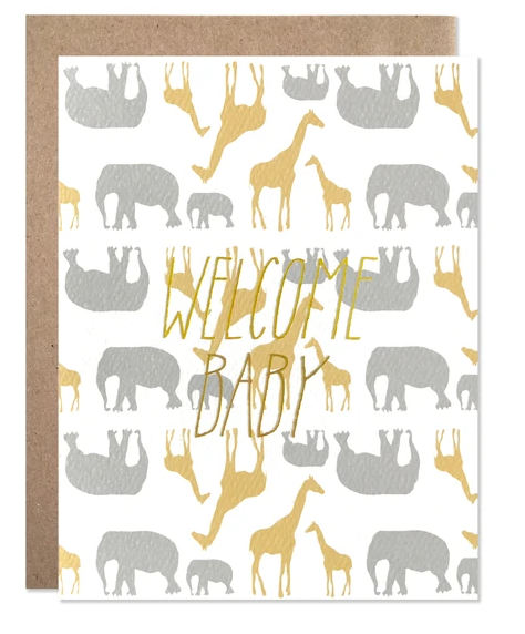 Welcome Baby Safari | Gold Foil