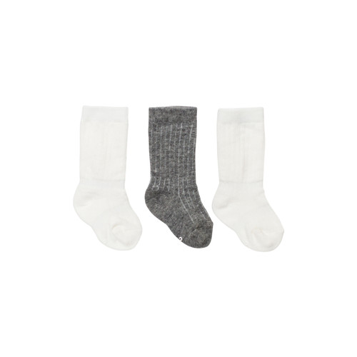 White & Grey Socks | Pack of 3