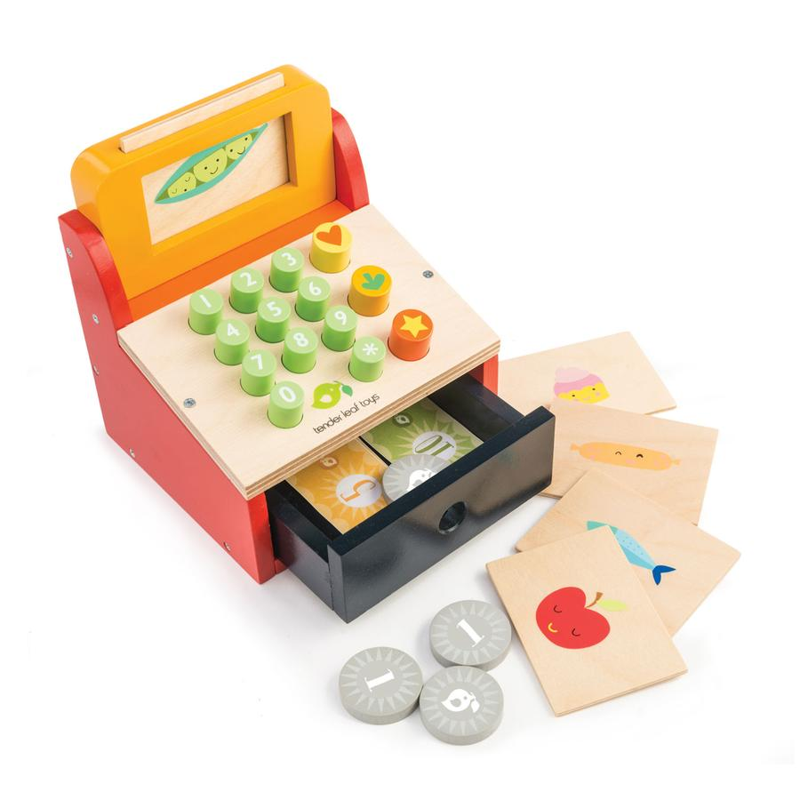 Cash Register Till with Money
