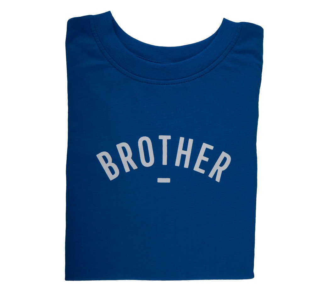 "French Blue Short-Sleeved ""Brother"" T-Shirt"