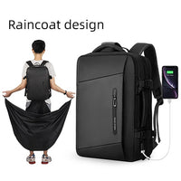 20-35L Expanding backpack +raincoat + external USB