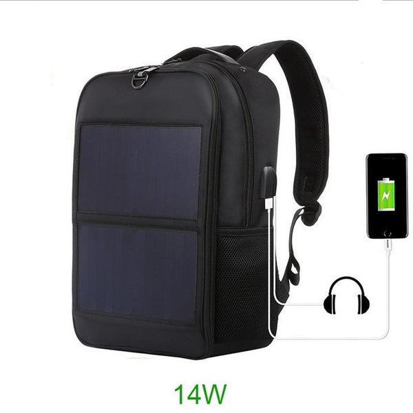 25L 14w Solar powered backpack