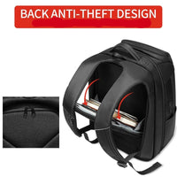 30L Multi-pocket anti-theft travel backpack + external USB charger