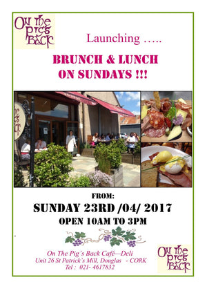 Launching Brunch & Lunch on Sundays!!!