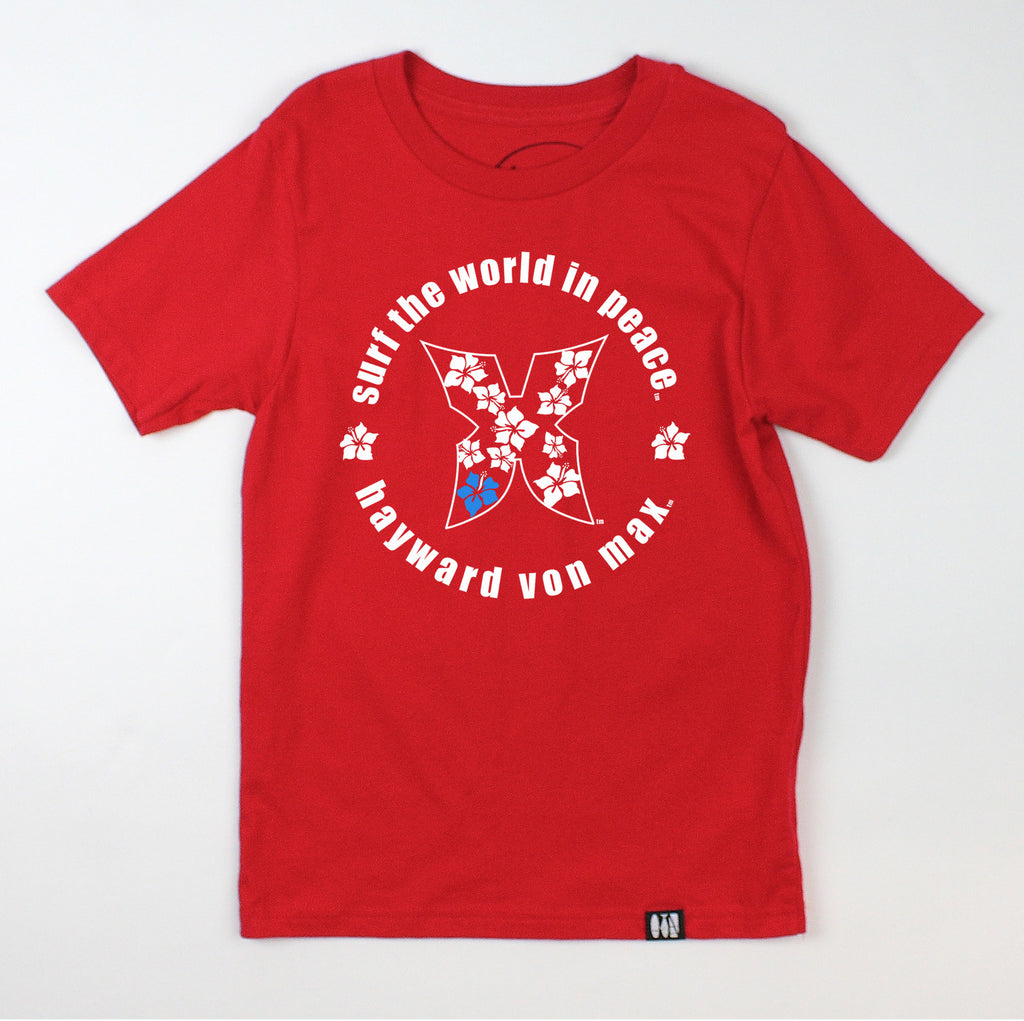 """Surf the World in Peace"" Youth Tee"