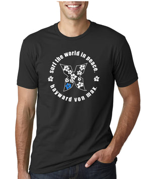 """Surf the World in Peace"" Men's Tee"