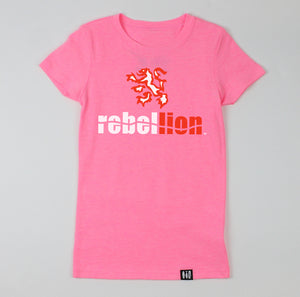 """Rebel Lion"" Girls' Tee"