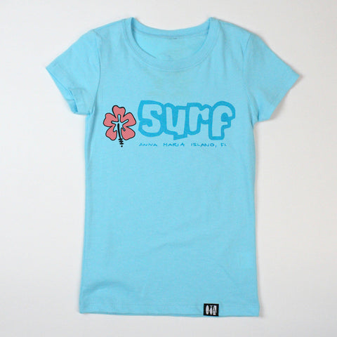"""Surf"" Girls' Tee"