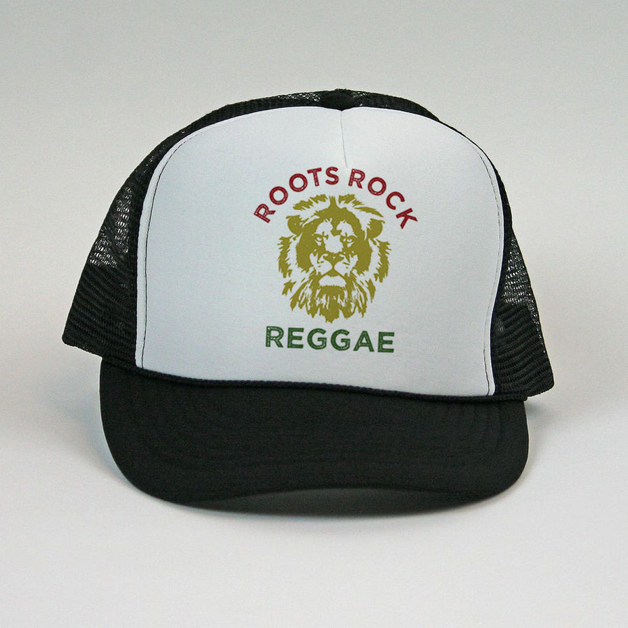 """Roots Rock Reggae"" Lion Mesh Snapback"