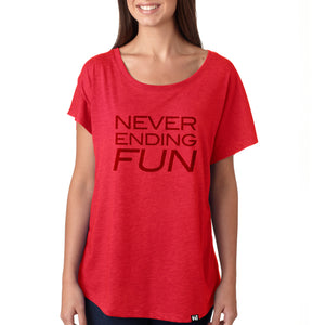 """Never Ending Fun"" Dolman Tee"
