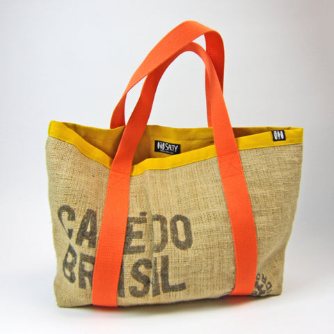"""Salty Tote"" Orange/Yellow"