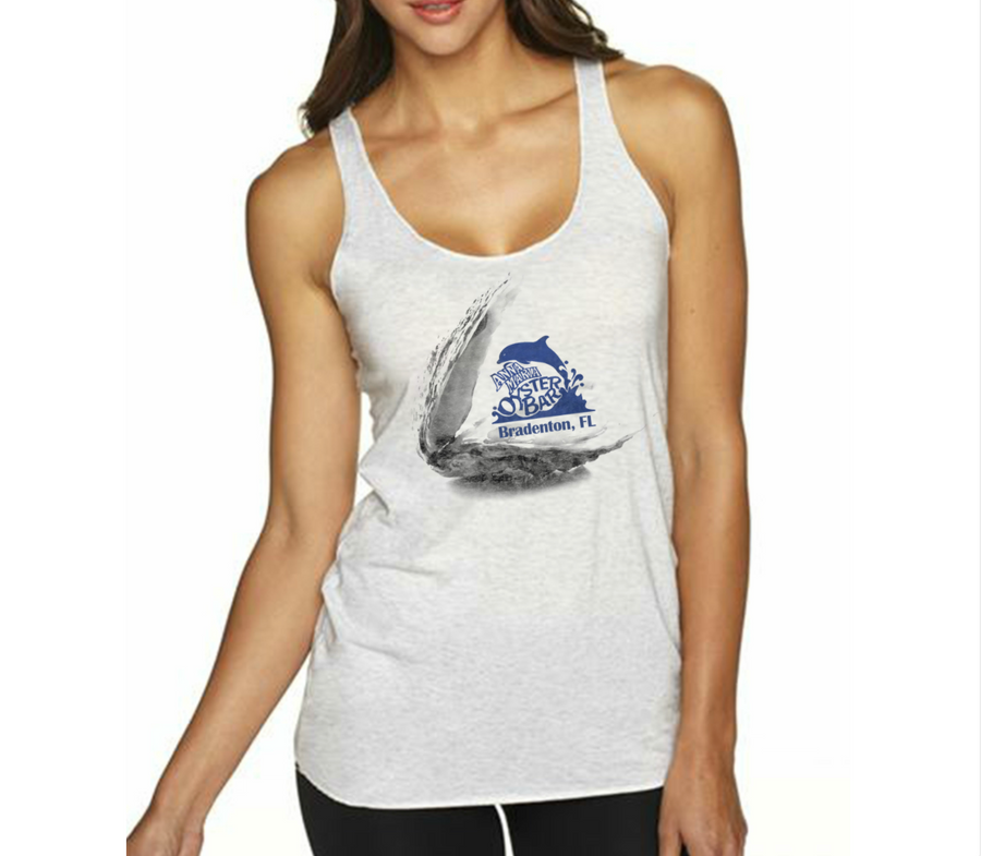 Ladies' Triblend Tank - Oyster Design