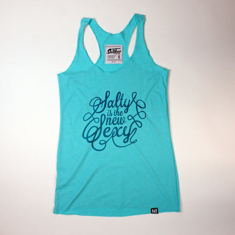 """Salty is the New Sexy"" Racerbank Tank"
