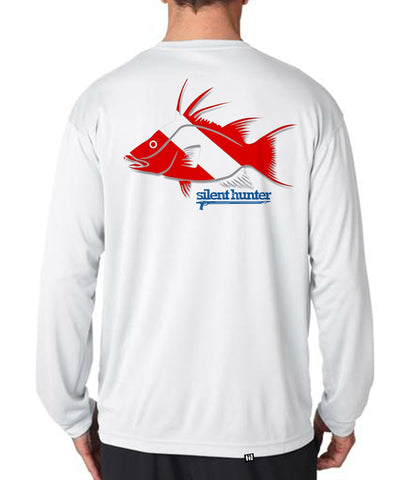 """Hogfish Dive Flag"" Dry-Fit Shirt"