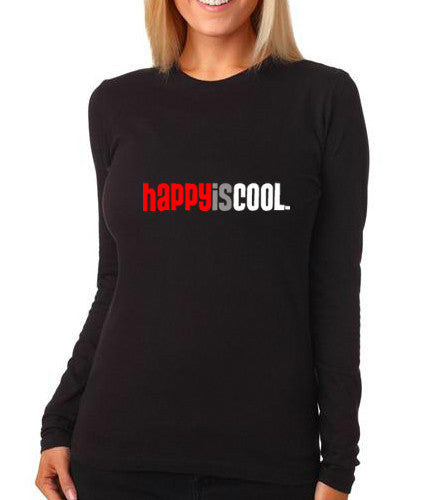 """HappyisCool"" Women's Long Sleeve Tee"