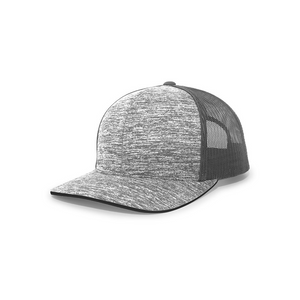Aggressive Heather Trucker Snapback Cap
