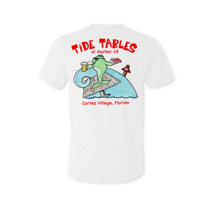 Tide Tables Adult Tri-Blend Crew Tee