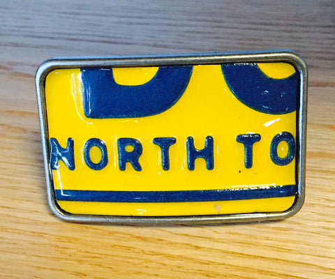 Vintage License Plate Belt Buckles