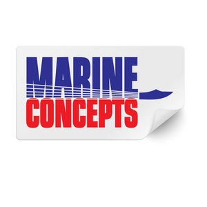 Marine Concepts Rectangular Decal Sticker
