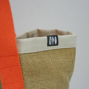 """Salty Tote"" Orange/White"