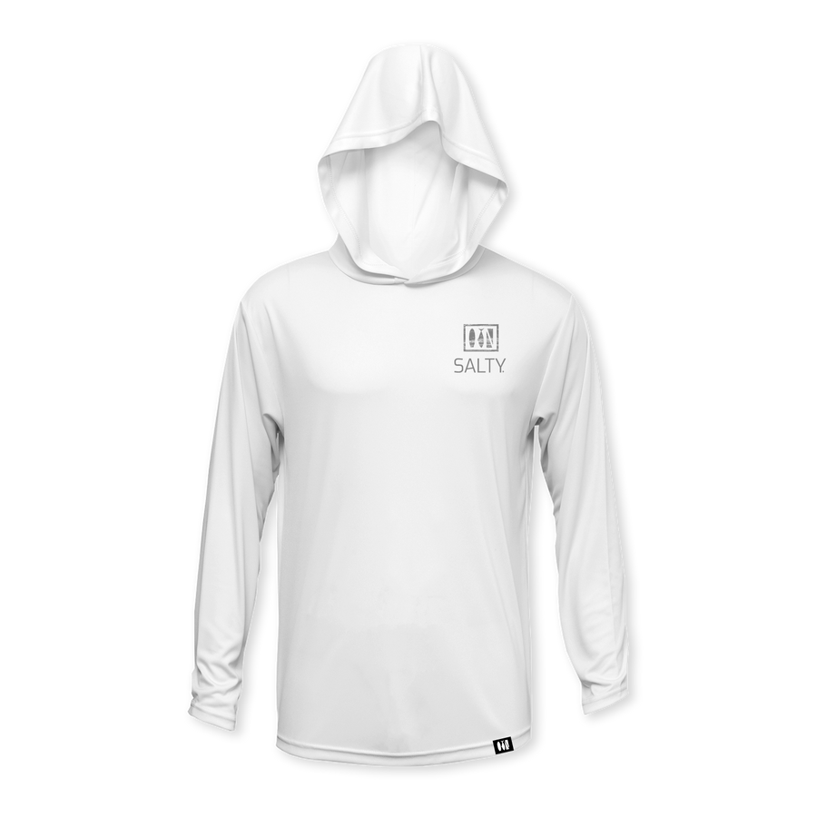 Salty Logo Performance Long Sleeve Hoodie