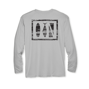 Salty Logo Performance Youth Long Sleeve T-Shirt