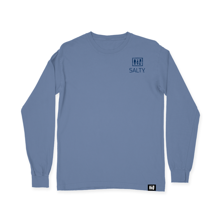 Salty Logo Comfort Colors Long Sleeve Tee